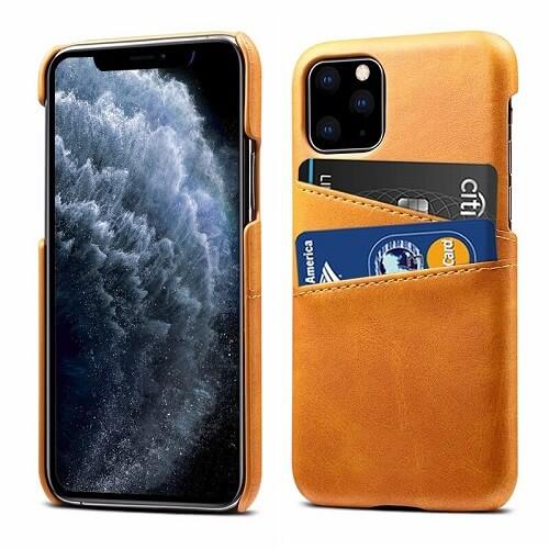 Khaki Leather iPhone 12 Pro Max Case