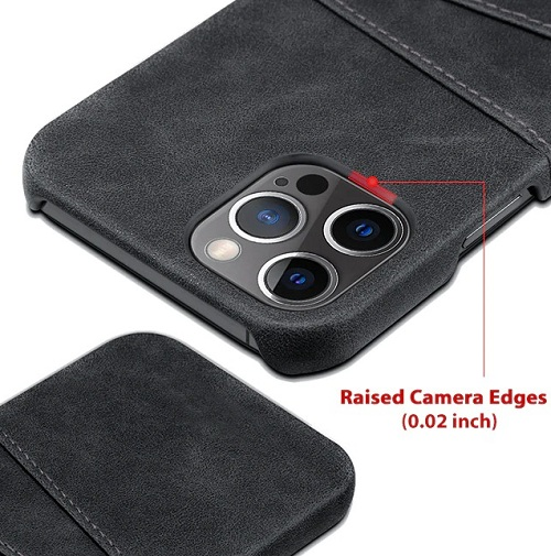 Leather iPhone 12 Pro Max Case With Card Holder