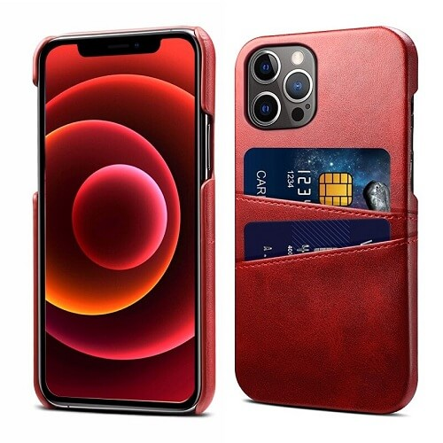 Red Leather iPhone 12 Pro Max Case