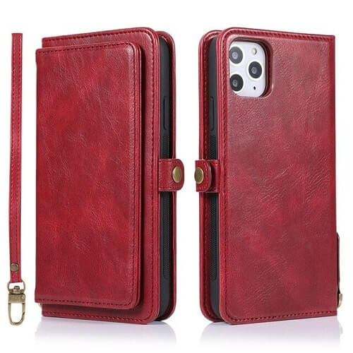 Red iPhone 11 Pro Detachable Wallet Case