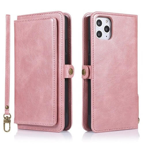 Rose gold iPhone 11 Pro Detachable Wallet Case