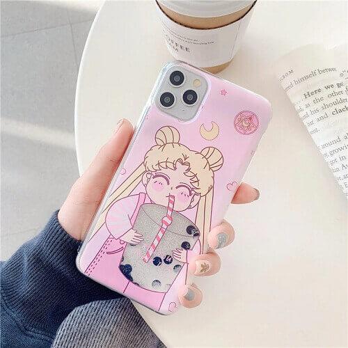 Sailor Moon bubble tea iPhone Case (1)
