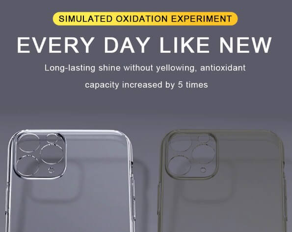 Ultra-slim transparent phone Case with camera lens protection for iPhone