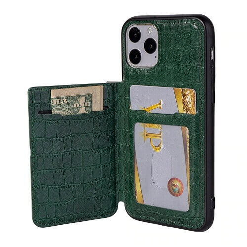 iPhone 11 crocodile wallet phone case