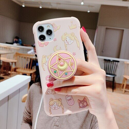 sailor moon iPhone case with holder