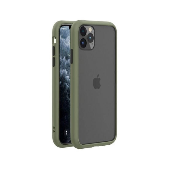 Army green-Black Shockproof Bumper iPhone Case