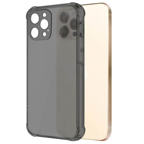 Black Clear shockproof clear iPhone case with camera lens protection