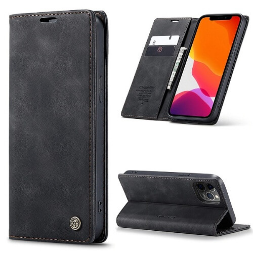 Black Magnetic Wallet iPhone 12 Pro Max Case