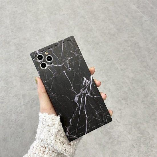 Black Square Marble Phone Case