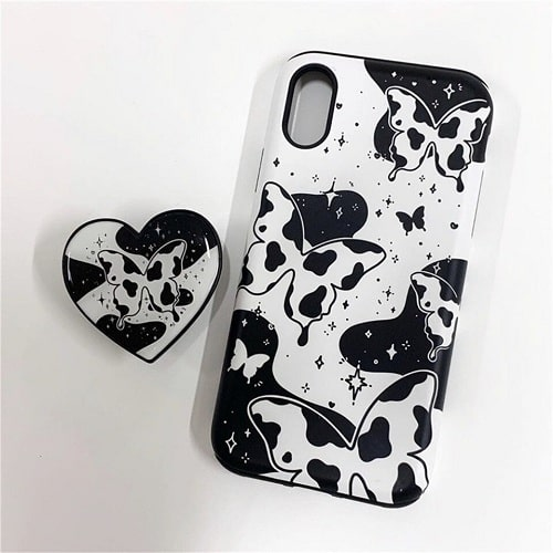 Black and White Butterfly Phone Case
