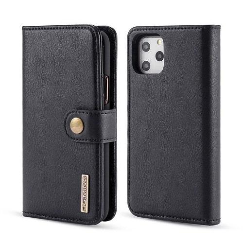 Black iPhone 12 Pro Detachable Wallet Case