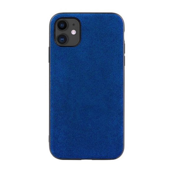 Blue Alcantara iPhone 12 Case