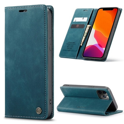 Blue Magnetic Wallet iPhone 12 Pro Max Case