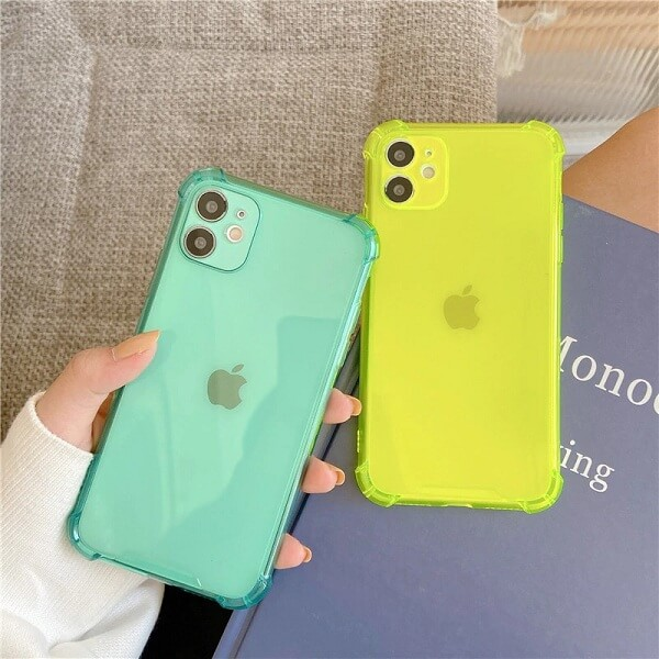 Clear Shockproof Bumper iPhone Case