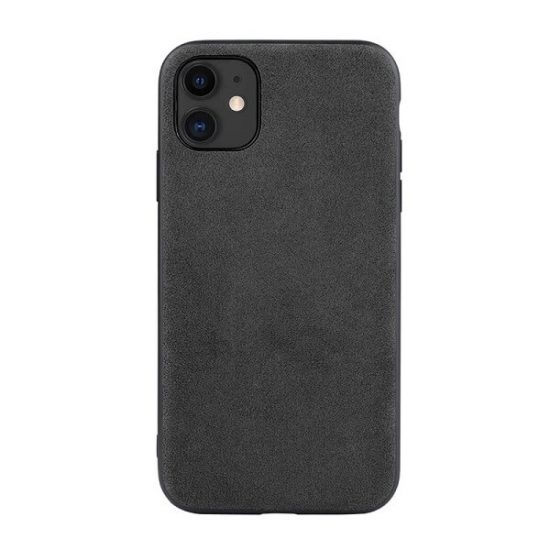 Dark gray Alcantara iPhone 12 Case