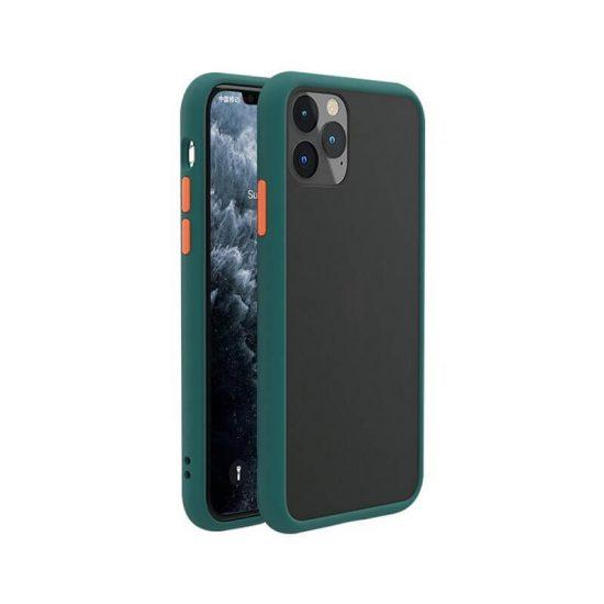 Dark green- orange Shockproof iPhone Case