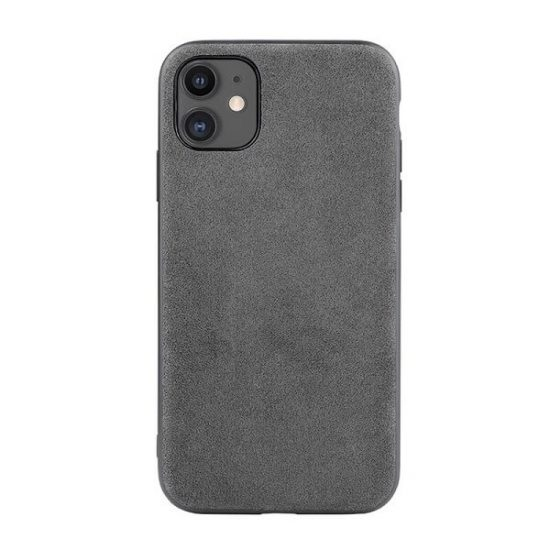 Gray Alcantara iPhone 12 Case