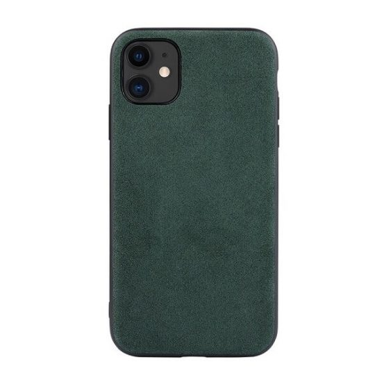 Green Alcantara iPhone 12 Case
