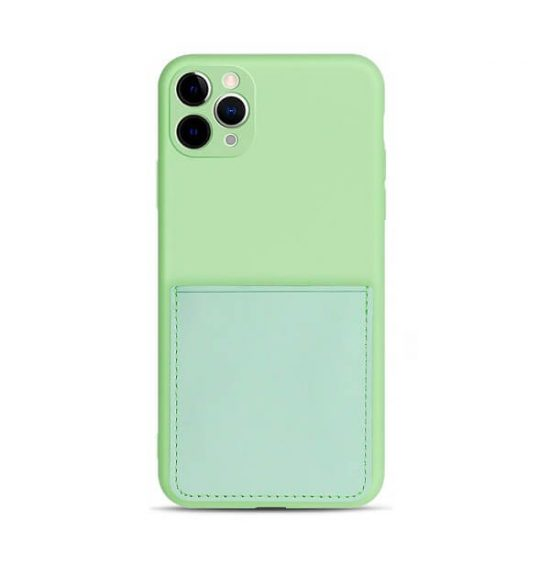 Green iPhone Case With Back Pocket Wallet