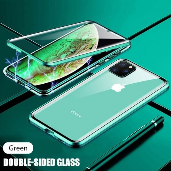 Green Magnetic Adsorption Metal iPhone 12 Pro Case