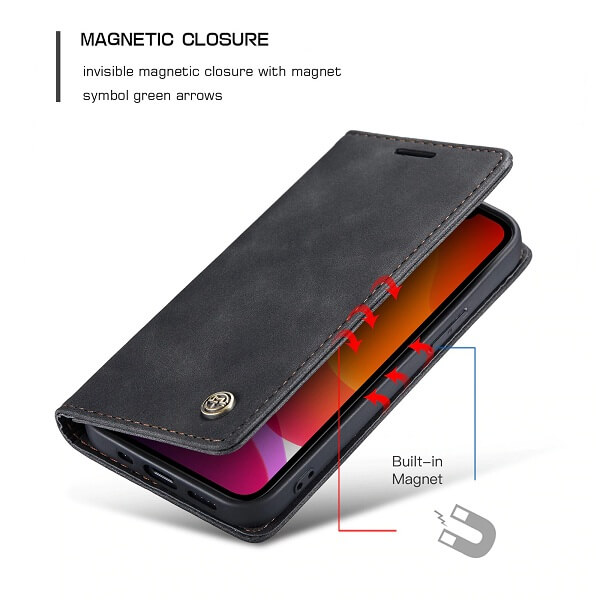 Leather Wallet iPhone 12 Pro Max Case With Card Holder
