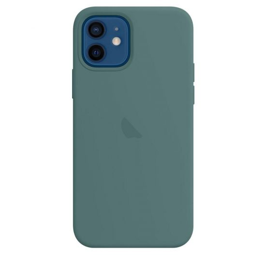 Pine Green candy color silicone phone case