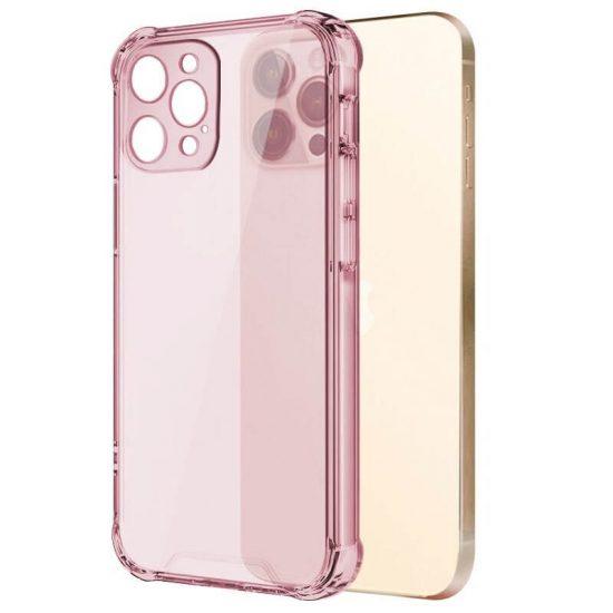 Pink shockproof transparent iPhone case