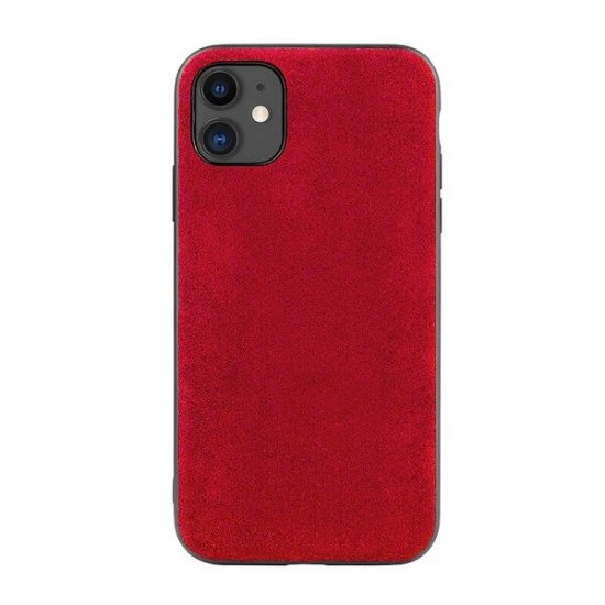 Red Alcantara iPhone 12 Case