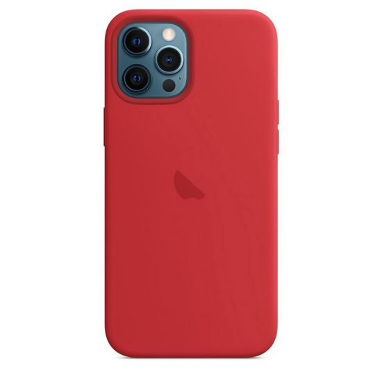 Red iphone silicone case