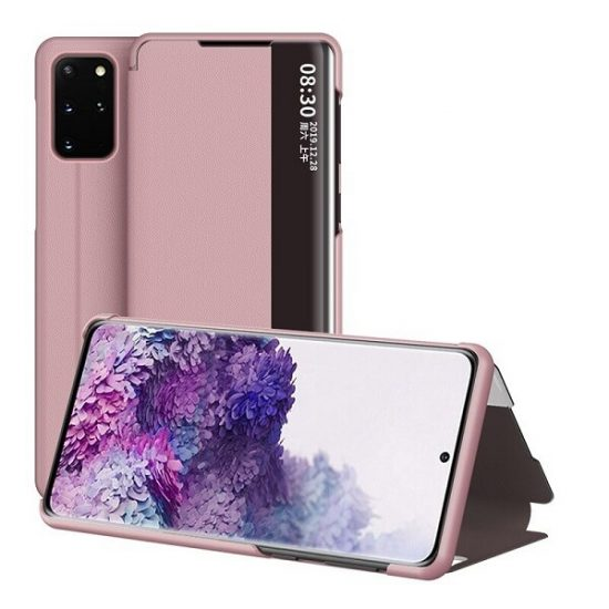 Rose Gold samsung s20 clear view cover