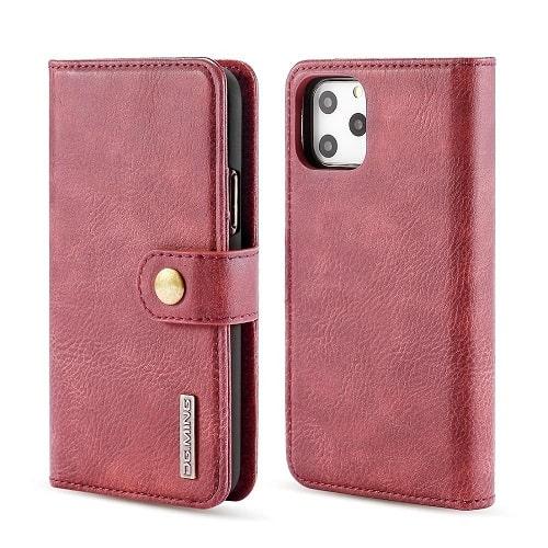Wine iPhone 12 Pro Detachable Wallet Case