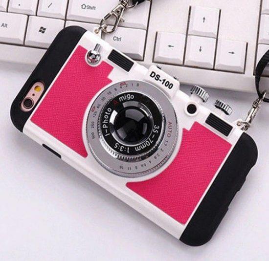 Rose vintage 3D camera phone case