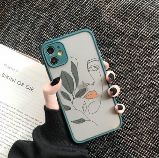 woman illustration iPhone case