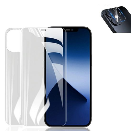 3-in-1 iPhone Screen Protector- camera lens protection