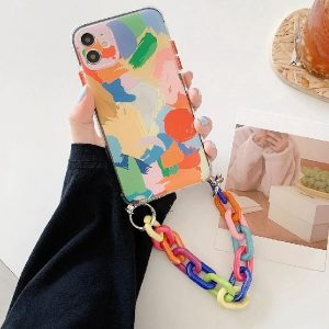 Artwork Print iPhone Case With Cable Chain
