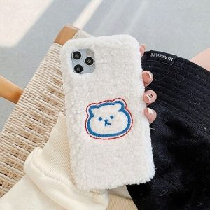 Winter Warm Plush Bear iPhone Case