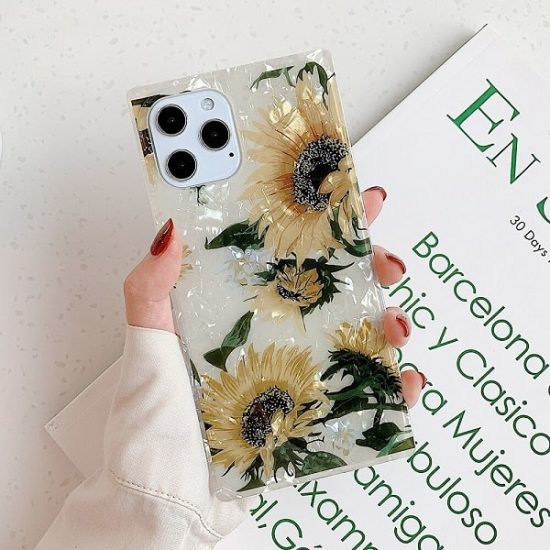 Sunflower Square iPhone Case