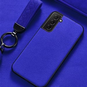 Blue Alcantara Samsung Galaxy S21 Plus Case
