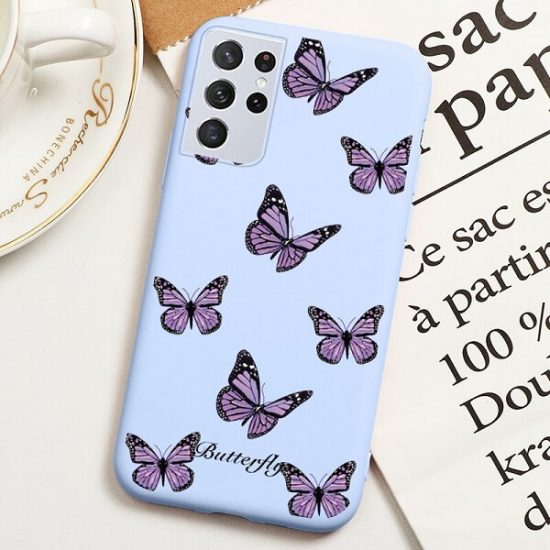 Butterfly Print Samsung Galaxy S21 Ultra Case