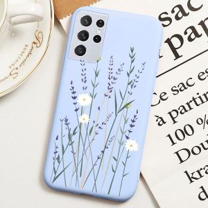Cute Flower Print Samsung Galaxy S21 Ultra case