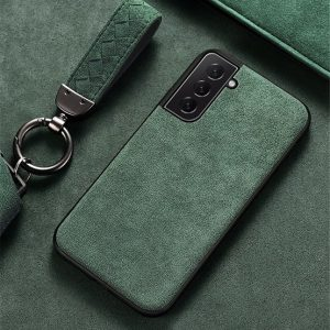 Green Alcantara Samsung Galaxy S21 Case
