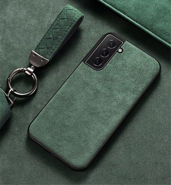 Green Alcantara Samsung Galaxy S21 Case