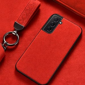 Hot Red Alcantara Samsung S21 Plus case