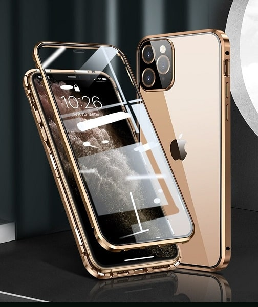double sided tempered glass magnetic case for iphone