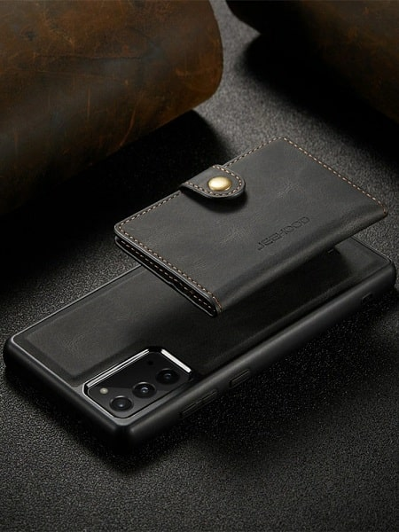 Magnetic detachable wallet phone case for Samsung S21 Case