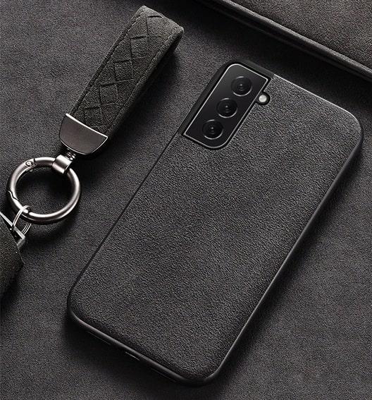 Samsung Galaxy S21 Plus simple Alcantara Case