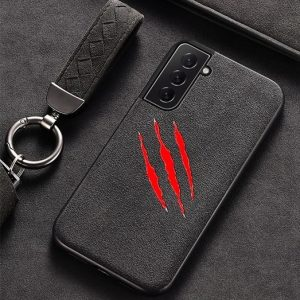Samsung S21 Plus Claw Scratch Alcantara Case