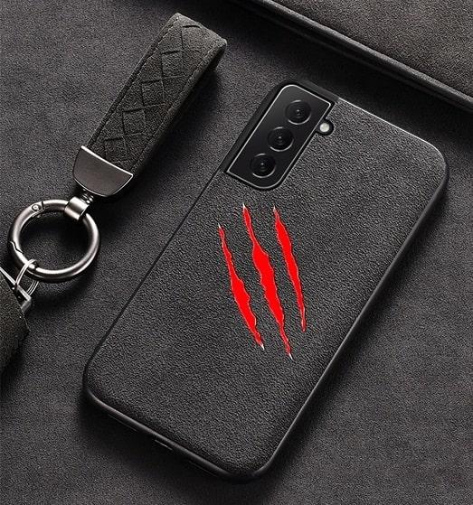 Samsung S21 Plus Claw Scratch Alcantara Case