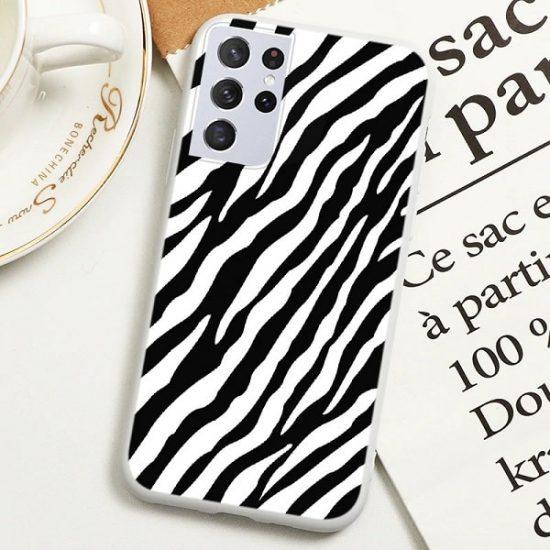 Zebra Print Samsung Galaxy S21 Ultra Case