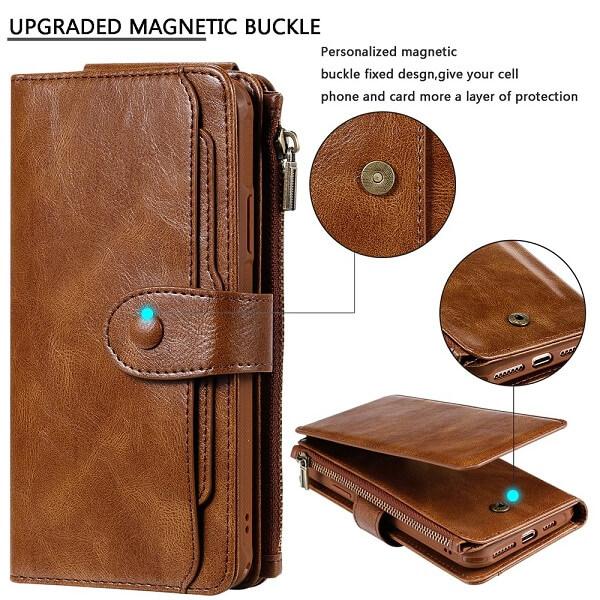 iPhone 12 Magnetic Detachable Flip Wallet Case